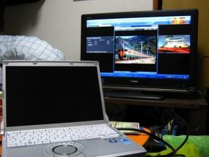32V型テレビでネットサーフィン