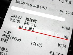もやし1円