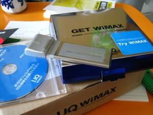 到着したWiMAX端末