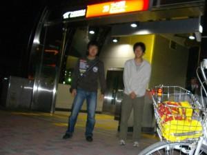 AM5:00 つくば駅にて