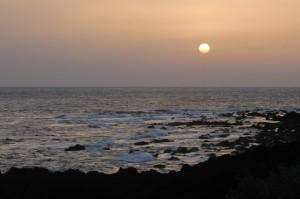 千畳敷からの夕陽