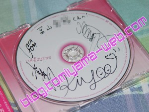 CDに書いてもらったサイン。
